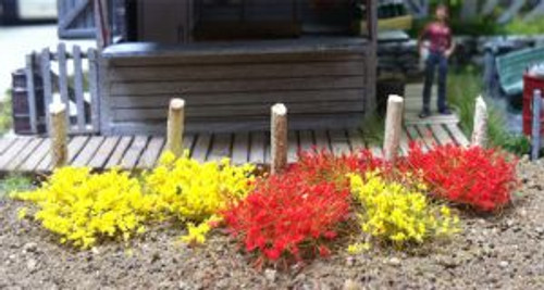 Bachmann Trains 31034 6mm Grass Tufts Yellow&Red 100 piece