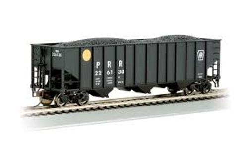 Bachmann Trains 18713 HO Scale 100t 3-Bay Hopper PRR #223138 Yellow Ball