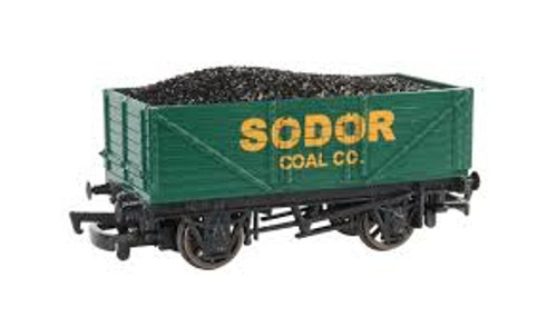 Bachmann Trains 77002 HO Scale TTT Sodor Coal Co. Wagon w/Load