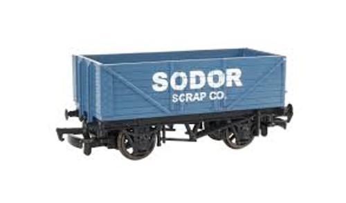 Bachmann Trains 77003 HO Scale TTT Sodor Scrap Co. Wagon w/Load