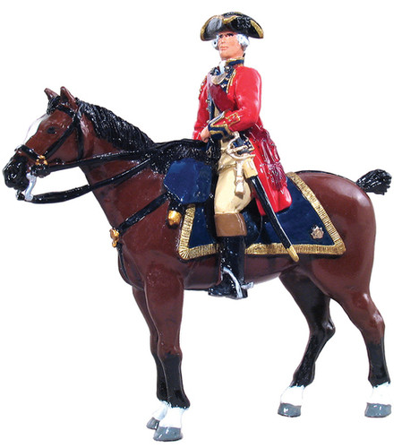 W Britain Redcoats 47006 British Officer Mounted 1st Foot Guards