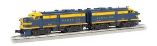 Williams Trains 20093 O Scale FA-2 A-A Diesels SF #208 blue & yellow