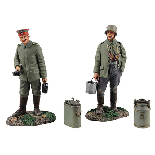 """W Britain 23102 """"What's on the Menu Tonight?"""" German Infantry"""