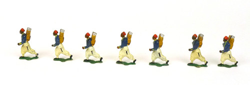 Comet Authenticast 270 French Turcos Marching 1914 Toy Soldiers 7 Figures