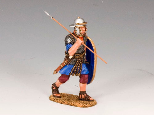 King & Country LOJ016 Marching Roman Auxiliary with Spear and Shield