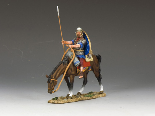 King & Country LOJ018 Auxiliary on Drinking Horse Roman Soldier Mounted on Horse