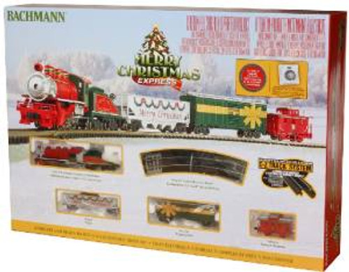 Bachmann Trains 24027 N Scale Merry Christmas Steam Freight Set/0-6-0