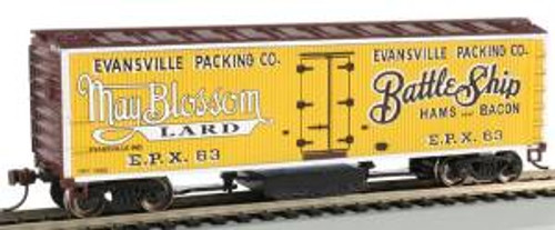 Bachmann Trains 16332 HO Scale Track Cleaning 40' Woodside Reefer Evansville Packing Co