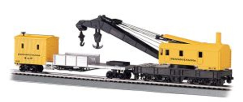 Bachmann Trains 16114 HO Scale 250t Crane & Boom Car PRR