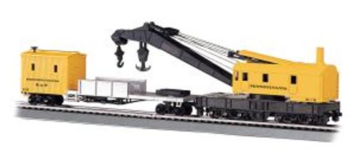 Bachmann Trains 16114 HO Scale 250t Crane & Boom Car PRR