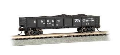 Bachmann Trains 17254 N Scale 40' Gondola D&RGW #50435 black