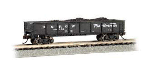 Bachmann Trains 17254 N Scale 40' Gondola D&RGW #50435 black