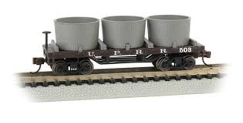 Bachmann Trains 15553 N Scale Old-Time Water Tank Car UP