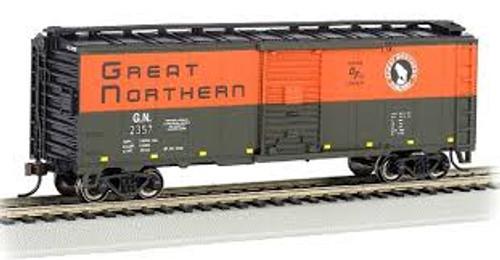 Bachmann Trains 16001 HO Scale 40' PS-1 Boxcar GN #2357 green & orange
