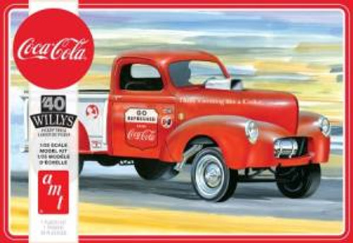 AMT Model Kits 1145 1/25 1940 Willys Pickup Gasser (Coca-Cola) 2T Skill 3