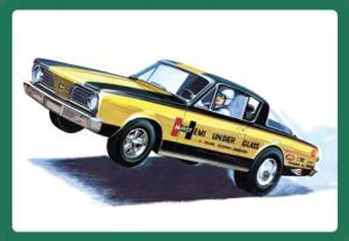 AMT Model Kits 1153 1/25 1966 Plymouth Barracuda Hemi Under Glass Skill 2