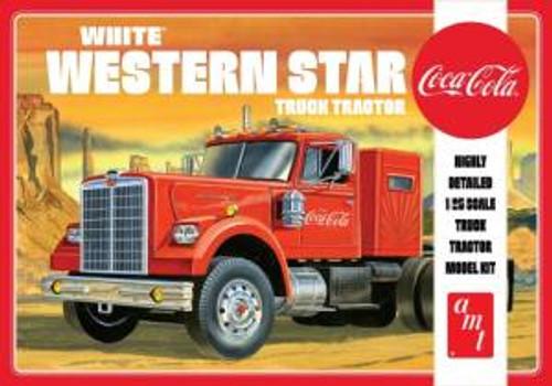 AMT Model Kits 1160 1/25 White Western Star Semi Tractor Skill 3