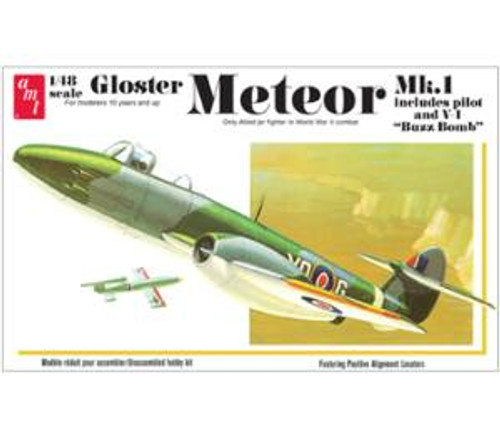 AMT Model Kits 825 1/25 Gloster Metor MK-1 Fighter