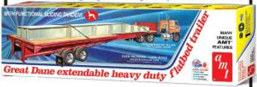 AMT Model Kits 1111 1/25 Great Dane Extendable Flat Bed Trailer Skill 3