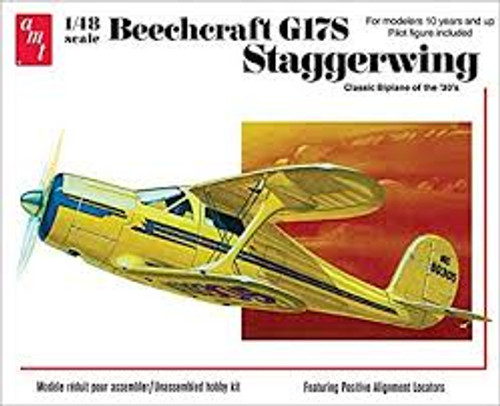 AMT Model Kits 886 1/25 Beechcraft G17S Staggerwing