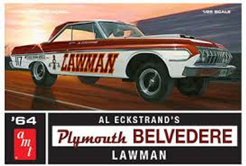 AMT Model Kits 986 1/25 1964 Plymouth Belvedere Lawman Super Stock