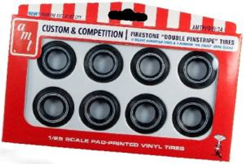 AMT Model Kits 019 1/25 Firestone Double Pinstripe Tires Parts Pack
