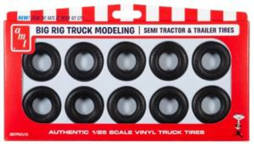 AMT Model Kits 023 1/25 Big Rig Truck Tire Parts Pack Skill 2