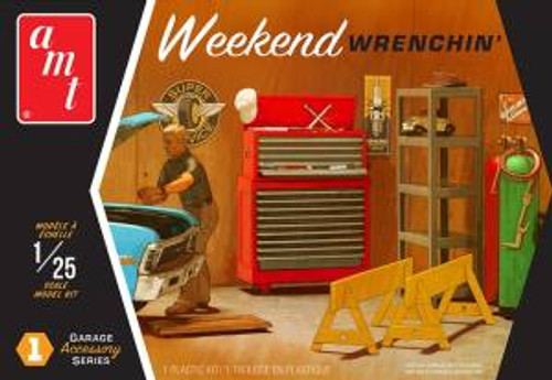 AMT Model Kits 015 1/25 Garage Accessory Set #1 Weekend Wrenchin 2T Skill 2