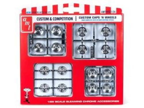 AMT Model Kits 021 1/25 Custom Caps & Wheels Parts Pack Skill 2