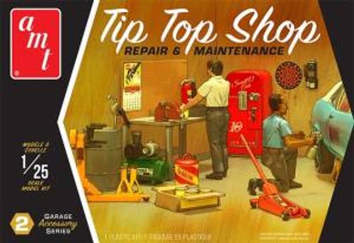 AMT Model Kits 016 1/25 Garage Accessory Set #2 Tip Top Shop 2T Skill 2