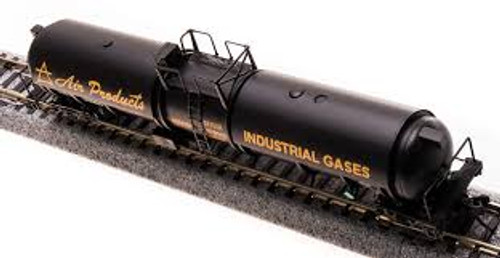 Broadway Limited Imports 3721 N Scale Cryogenic Tank Car Air Products 2 pack