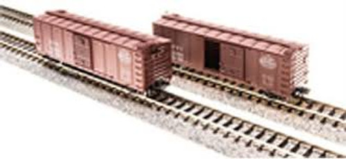 Broadway Limited Imports 3660 N Scale Steel Boxcar 4 pack NYC w/Dreadnaught Ends Pre-1955 Roman