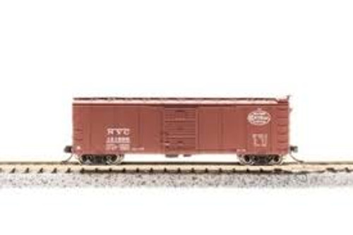 Broadway Limited Imports 3658 N Scale Steel Boxcar 4 pack NYC w/Corrugated Ends Pre-1955 Roman