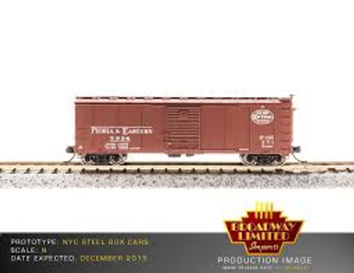 Broadway Limited Imports 3659 N Scale Steel Boxcar 4 pack NYC w/Corrugated Ends Post 1955 Gothic