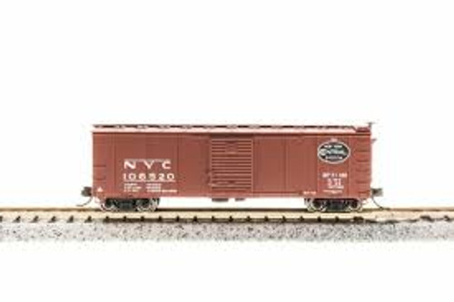 Broadway Limited Imports 3666 N Steel Boxcar NYC #103634 w/Corrugated Ends Post 1955 Goth