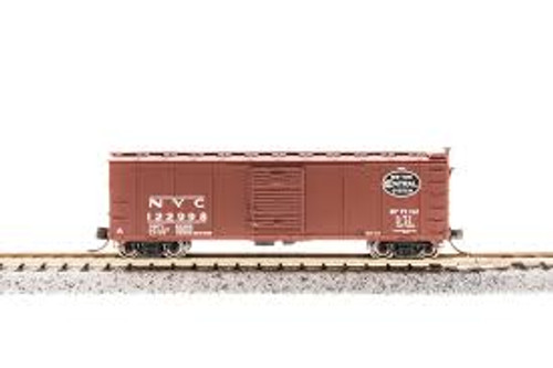 Broadway Limited Imports 3668 N Scale Steel Boxcar NYC #121334 w/Dreadnaught Ends Post 1955 Got