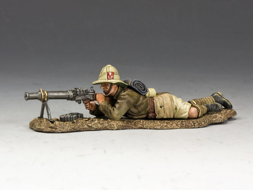 King & Country ME006 Lying Prone Lewis Gunner Lancashire Fusiliers Middle East Campaign