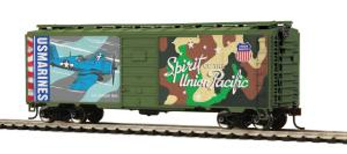 MTH Trains HO Scale 40' PS-1 Boxcar Union Pacific Marines