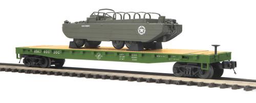 MTH Premier Trains 20-95400 US Army Flat Car GMC DUKW 353 O Scale