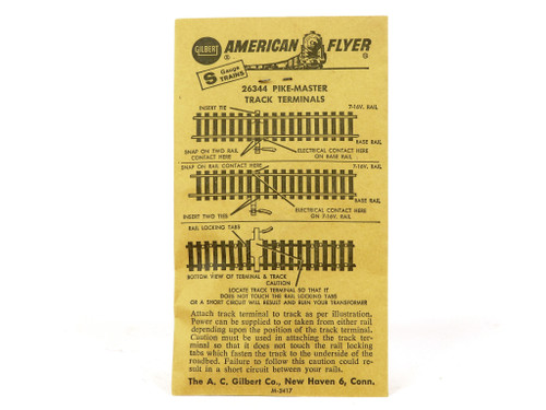 American Flyer Trains 26344 Pikemaster Track Terminals S Gauge