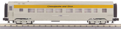 MTH Trains 30-67865 Chesapeake And Ohio 60' Streamlined ABS Coach Passenger Car