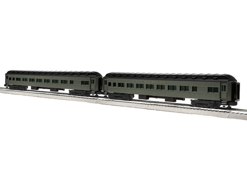 "Lionel Trains 6-84208 Nickel Plate Road 18"" Heavyweight Coach Car 2 Pack NPR #2"