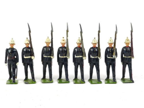 WBritain Toy Soldiers Set 35 Royal Marines Marching At The Slope