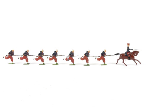 WBritain 142 French Zouaves Review Order Charging with Bayonets