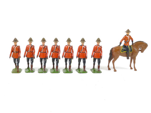 WBritain 1554 Royal Canadian Mounted Police Summer Dress Dismounted Marching