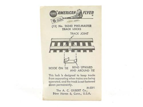 American Flyer S Gauge Trains 26343 Pike-Master Track Locks 12 Pack