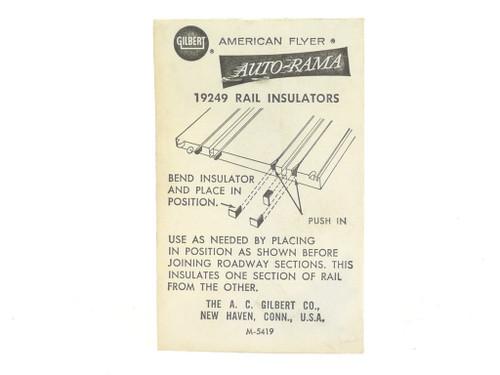 American Flyer Auto-Rama 19249 Rail Insulator 8 Pack