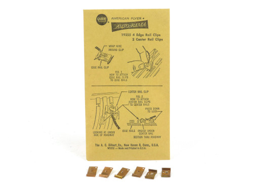 American Flyer 19255 Auto-Rama Edge and Center Rail Clips