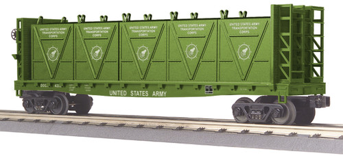 MTH RailKing Trains 30-76566 US Army Flat Car With Bulkheads And LCL Containers