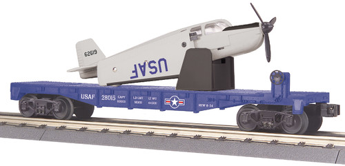 MTH RailKing Trains 30-76764 US Air Force Flat Car With Airplane O Gauge